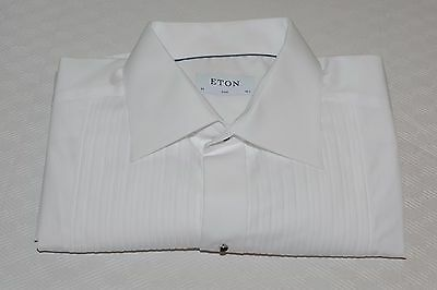 $285 NWOT Eton Men's Slim Fit French Cuff Tuxedo Shirt Size 16 1/2 - 36