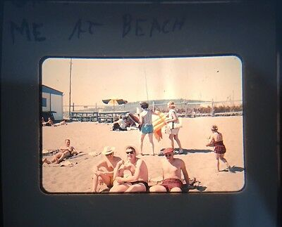 1950s Slide Photo Of People At The Beach