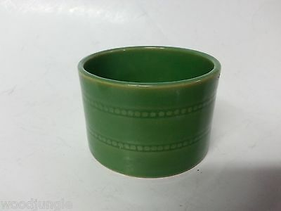 Over And Back Green Yellow Ware Custard Cup Ramekin