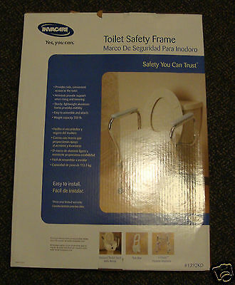 Invacare 1392KD Aluminum Toilet Safety Support Frame Rail Grab Bar Aid Handles