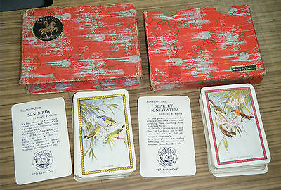 Vintage Boxed Double Deck Chevalier Playing Cards - Birds