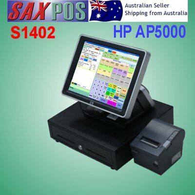 SAXPOS S1402 Complete Touchscreen Point of Sale (POS) System with Software