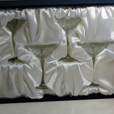 Faberge Crystal Stemware Martini Glasses, Set of 3 with Case, 6.6'H