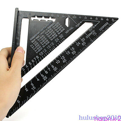 "Aluminum Alloy Speed Framing Rafter Square Metric/Imperial system 7"" ruler HS1"