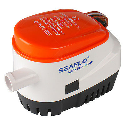 AF Seaflo Automatic Submersible Boat Bilge Water Pump 12v 750gph Auto with Float