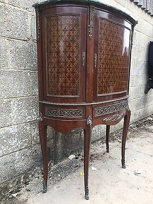 French Antique Inlaid Display/shop Cupboard, Unusual, Vintage, Louis XV