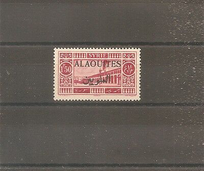 TIMBRE ALAOUITES SYRIE FRANKREICH KOLONIE 1925 N°28a NEUF* MH