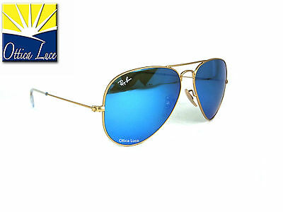 Ray Ban Aviator Large Metal 3025 112/17 Specchiato Sunglass Sonnenbrille Sole