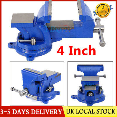 Heavy Duty Engineers Vice Vise 360°Swivel Base Jaw Workshop Work Bench 4 Inch UK