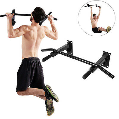 Heavy Duty Wall Mounted Pull Up Bars Gym Chin Home Workout Fitness Rack 200KG UK