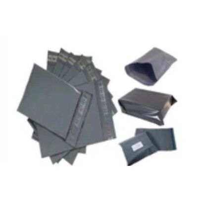 100x Grey Strong Poly Mailing Postal Bags-size -10*14