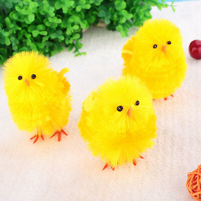 Mini Chicken Bright Yellow Easter Chick Easter Day Home Decoration For Kids