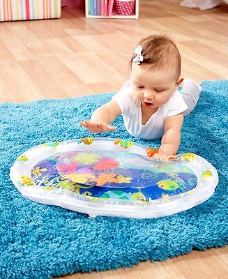 Baby's Dry Water Playmat Tummy Time Developmental Ocean Theme Play Mat Safe