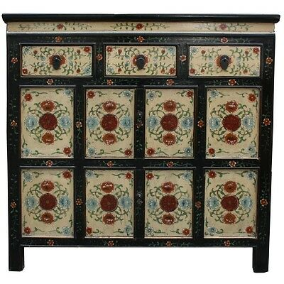 Original Painted Tibetan Sideboard Cabinet (35-022)