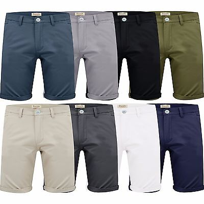 Mens Casual Chino Shorts by Stallion Cotton Stretch Summer Work Half Pant New.