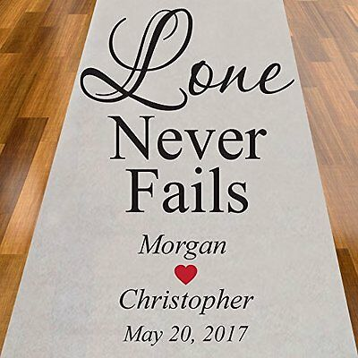 Love Never Fails Personalized Aisle Runner