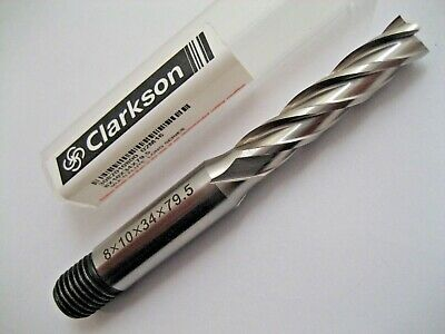 8mm HSS L/S 4 FLUTED LONG SERIES END MILL 3082010800 EUROPA TOOL / CLARKSON  #39