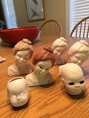 Bisque Doll Head Collection