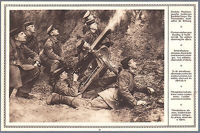 1915 Print WW I Photo German Soldiers Machine Gun Shooting at Aircraft