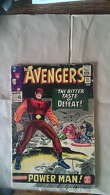 Marvel Comics avengers #21 1965 VG 1st app Power Man