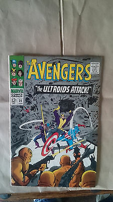 Marvel Comics avengers #36 1966 FN 1st print cents copy