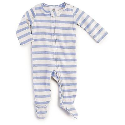 Baby Boys' Long Sleeve Striped Footed Sleeper Blue - Aden + Anais®