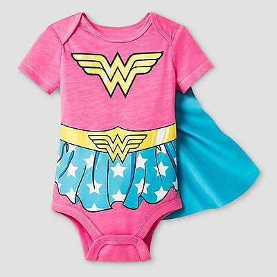 Baby Girls' Wonder Woman Bodysuit with Cape Red - Warner Bros. ®