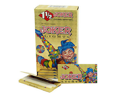 Full Box 24x Packs ( Joker Gold Lights Ultra Thin 1 1/2 1.5 ) Rolling Papers