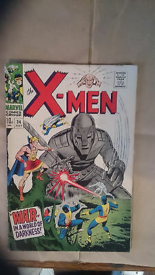Marvel Comics Uncanny X-men #34 1967 FN 1st print Mole Man