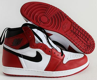 NIKE AIR JORDAN 1 Retro High Og Chicago White-Black-Red Sz 17 ... 5121319e6