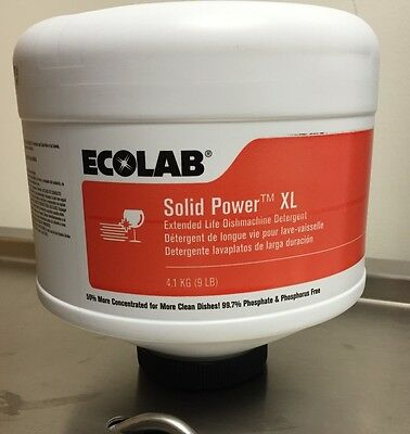New & Fresh! Ecolab # 6100185 Solid Power XL Machine Dishwashing Detergent.