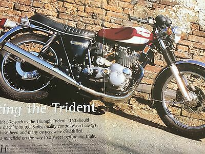 Triumph Trident T160  # Original 7 Page Motorcycle Article