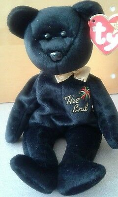 "Ty Beanie Baby ""THE END"" the Bear 1999 with RARE TAG!!, Retired & New"