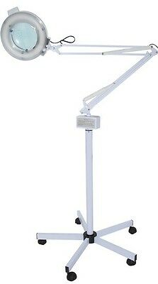 Magnifying luminescent lamp with floor stand M-2021