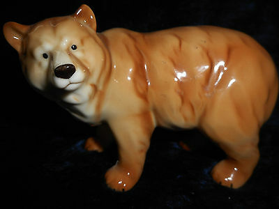 """Enesco """"SEAGULL Collection"""" Brown BEAR Figurine Porcelain hand painted MUST SEE"""
