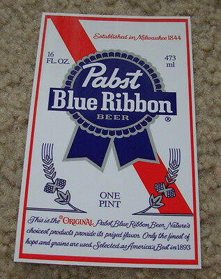 PABST BLUE RIBBON promo PBR LOGO STICKER decal craft beer brewery brewing