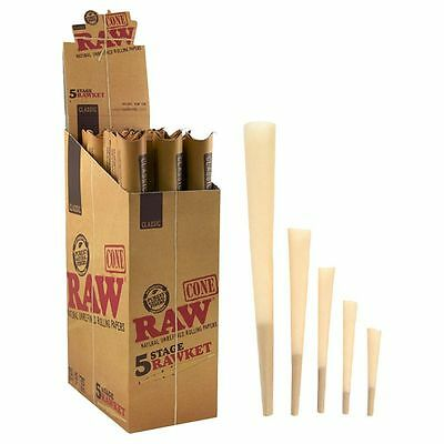 3x Packs ( RAW Classic Pre-Rolled RAWKET Launcher 5 Stage ) 5x Cones Per Pack