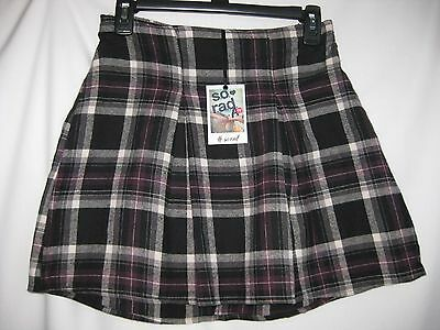 """Junior Flannel Skirt Size- S [W.26-30""""] Black Plaid  85% Off Msrp $36.00 New"""