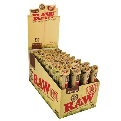 3x Packs ( RAW Organic Hemp Pre-Rolled Cones 1.25 1 1/4 ) 6x Cones Per Pack