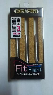 COSMO FIT SUPER DURALUMIN SLIM LOCKED #3 SHAFTS 24mm  FOR FIT FLIGHTS ONLY