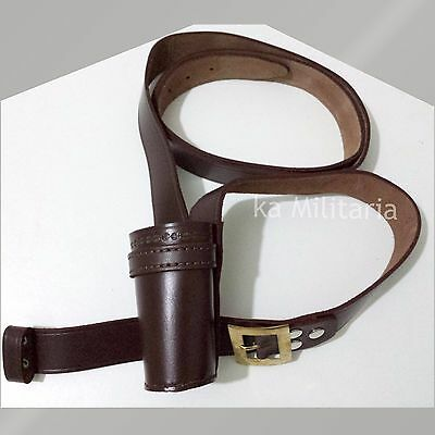 Flag Carrier Belt Genuine Brown Leather For Military & School Parades