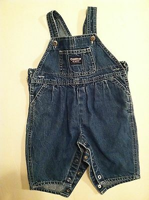 OshKosh B'gosh Denim Bib Overalls Infant Girls Size 3/6 months
