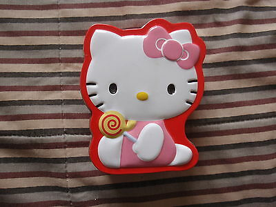 HELLO KITTY Tin container Approx 3 1/2 inches x 4 inches