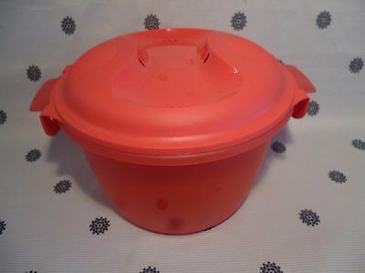 Tupperware Large Microwave Rice Cooker 2.2L Watermelon Red New