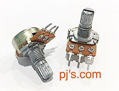 Replacement B10K OHM Linear Taper Rotary Potentiometer 15mm Shaft x 2pcs