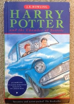 Harry Potter and the Chamber of Secrets by J. K. Rowling! Hardcover! D/J! VGC!