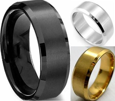 30x Quality Comfort-fit 8mm Band Stainless Steel Wedding Rings Men Jewely Gift