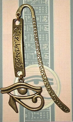 Egyptian EYE OF HORUS Gold Bookmark Book Mark Bronze Pendant Egypt Ra Medieval