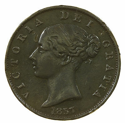 Great Britain, Victoria Halfpenny, 1857