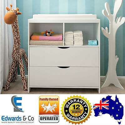 Change Baby Table Dresser Chest Cabinet Drawers Changer Nursery Storage White